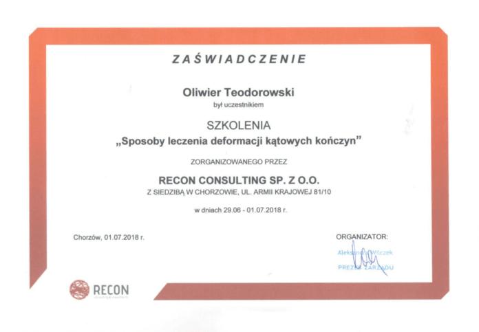 certyfikat ukończenia szkolenia w Katowicach