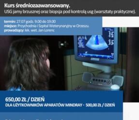 Kurs średniozaawansowany. USG jamy brzusznej oraz biopsja pod kontrolą usg (warsztaty praktyczne)