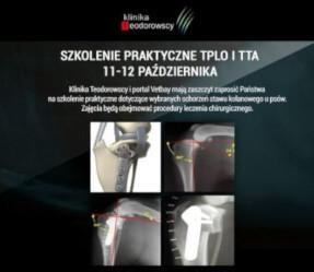 Szkolenie Praktyczne TPLO i TTA już 11-12 Października